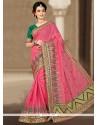 Sparkling Art Silk Zari Work Designer Traditional Saree