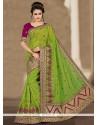 Tempting Resham Work Designer Traditional Saree