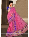 Cute Zari Work Chanderi Designer Traditional Saree