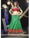 Mesmeric Green Net Lehenga Choli