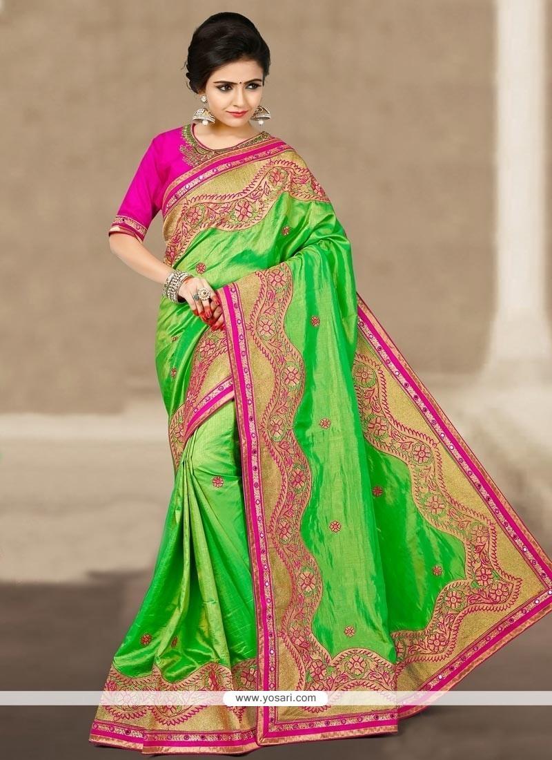 Regal Art Silk Green Traditional Saree