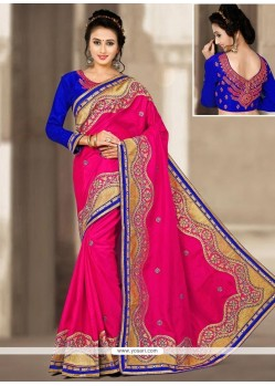 Glamorous Art Silk Hot Pink Designer Traditional Saree