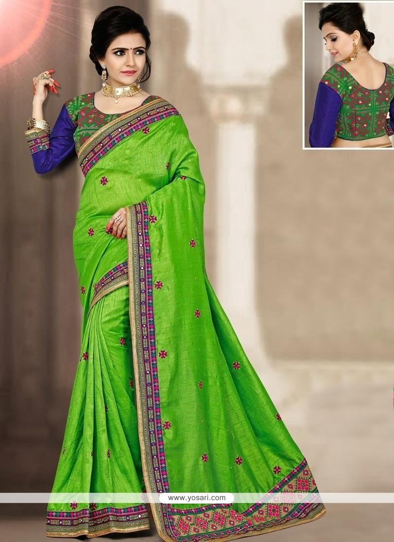 Lively Art Silk Resham Work Traditional Designer Saree