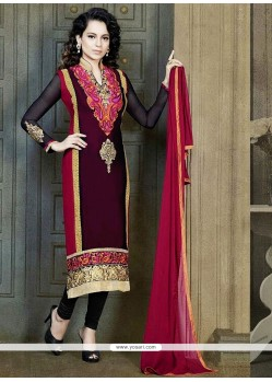 Georgette Multi Color Churidar Suit