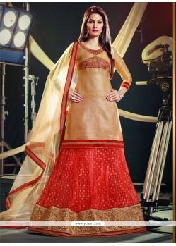 Dazzling Red Zari Work Wedding Lehenga Choli