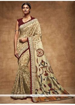 Invaluable Art Silk Print Work Printed Saree