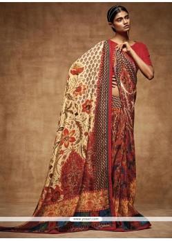 Irresistible Print Work Art Silk Printed Saree