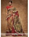 Integral Print Work Art Silk Printed Saree
