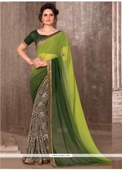 Dainty Multi Colour Printed Saree