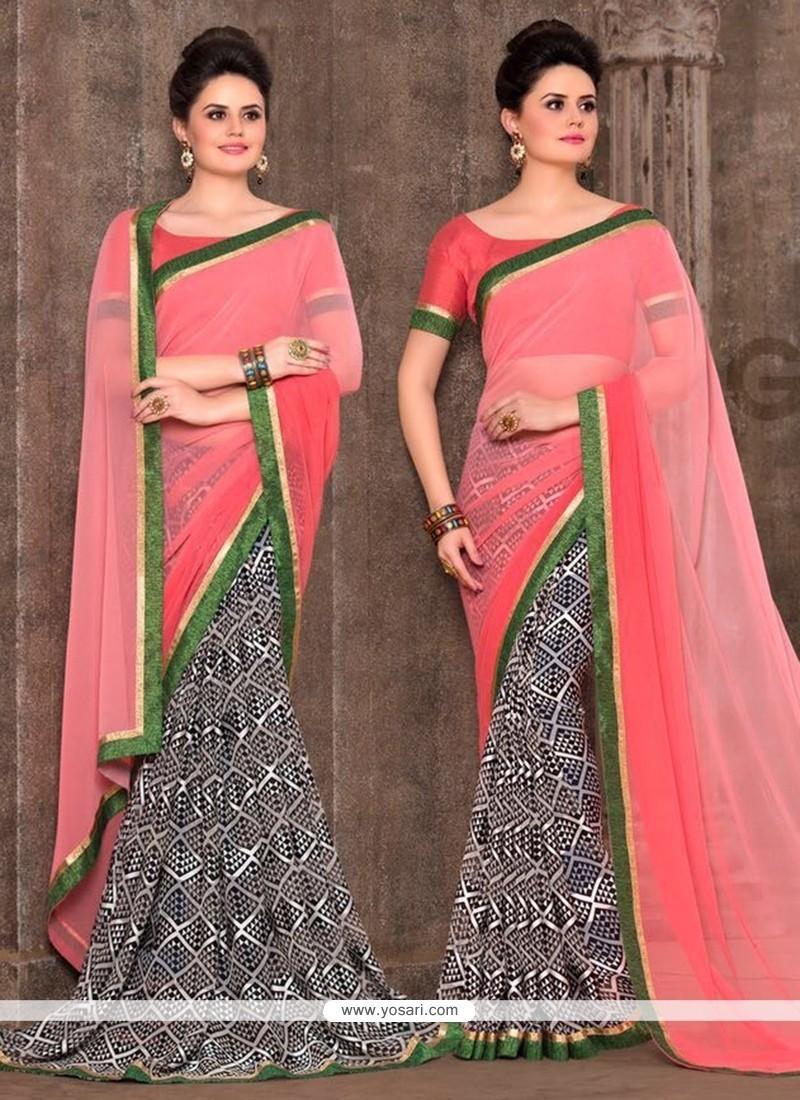 Dazzling Faux Georgette Multi Colour Print Work Printed Saree