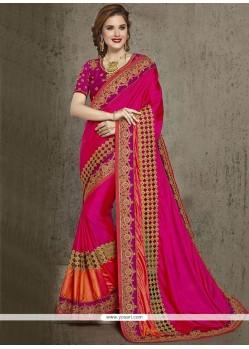 Adorable Magenta Designer Traditional Saree
