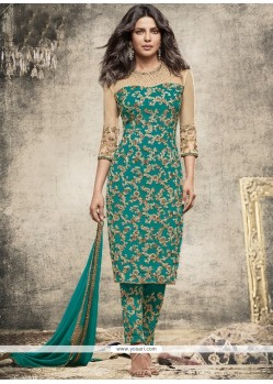 Priyanka Chopra Resham Work Pant Style Suit