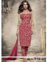 Priyanka Chopra Hot Pink Faux Georgette Pant Style Suit