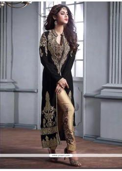 Honourable Embroidered Work Velvet Pant Style Suit