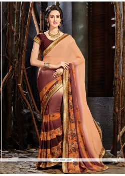 Trendy Faux Georgette Multi Colour Printed Saree