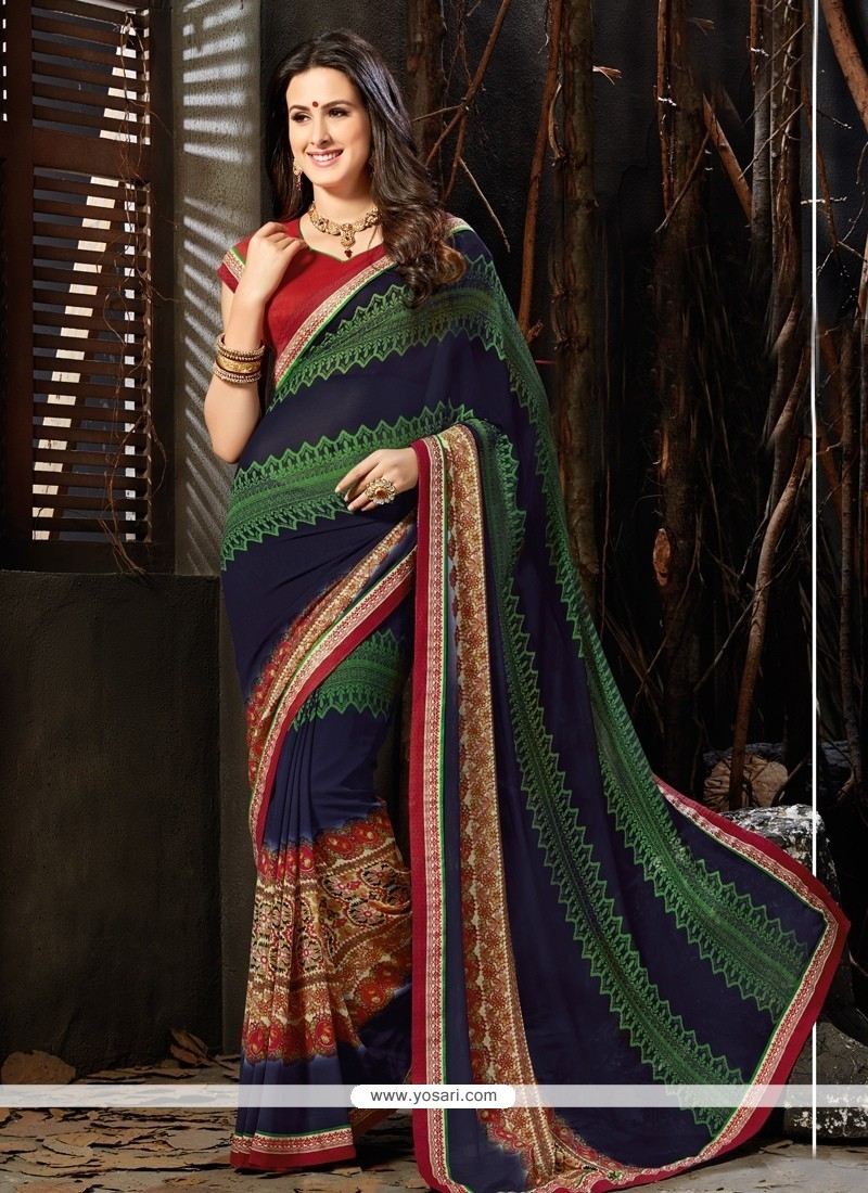 Absorbing Faux Georgette Casual Saree