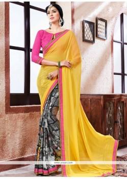 Integral Multi Colour Printed Saree