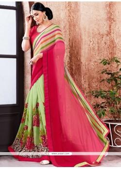 Riveting Print Work Multi Colour Printed Saree