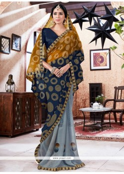 Especial Faux Georgette Multi Colour Printed Saree