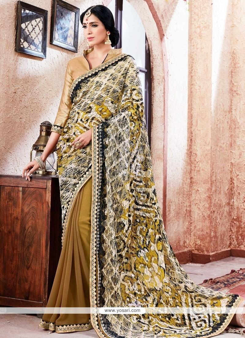 Classy Faux Georgette Multi Colour Printed Saree