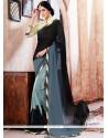 Festal Faux Georgette Print Work Printed Saree