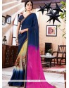 Integral Multi Colour Faux Georgette Printed Saree