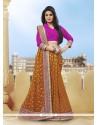 Amazing Orange Stone Work Viscose Classic Designer Saree