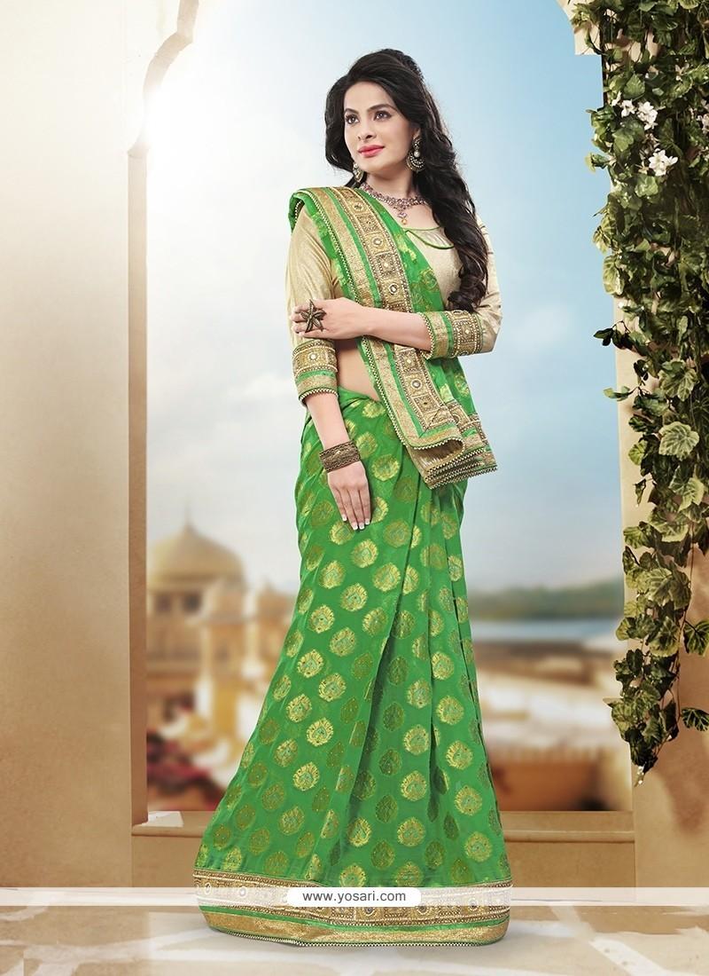 Alluring Sequins Work Art Silk Designer Traditional Saree