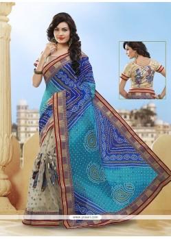 Enticing Patch Border Work Classic Designer Saree