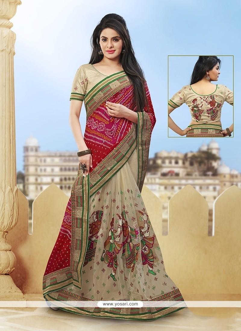 Tempting Fancy Fabric Zari Work Classic Designer Saree