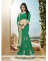 Imposing Georgette Green Classic Designer Saree