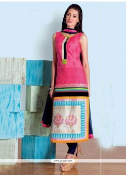 Dignified Hot Pink Party Wear Kurti