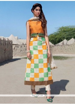 Multi Colour Tafeta Silk Party Wear Kurti
