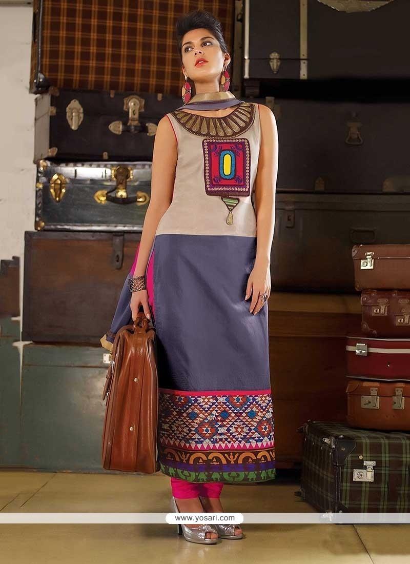 Precious Tafeta Silk Multi Colour Party Wear Kurti