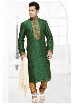Awesome Green Designer Kurta Pajama