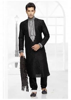 Royal Black Party Wear Kurta Pajama