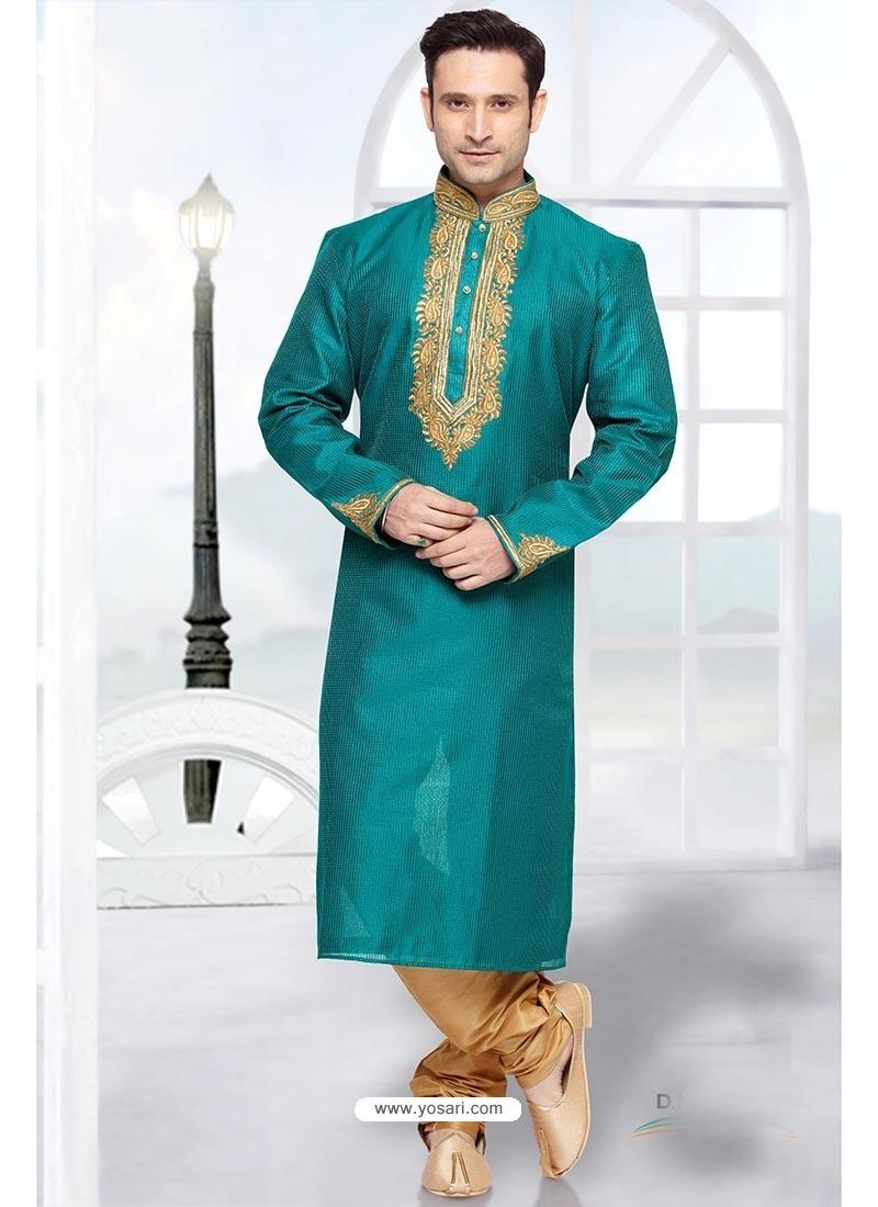 Shaded Green Kurta Pajama