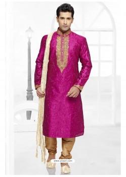 Blooming Pink Party Wear Kurta Pajama