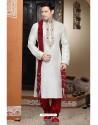 Impressive White Art Silk Kurta Pajama