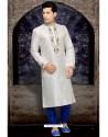 Astonishing White Art Silk Kurta Pajama