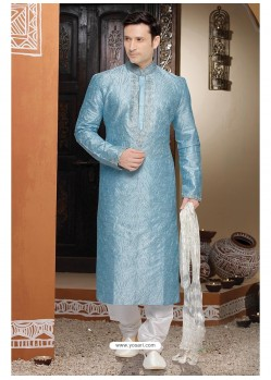 Blooming Blue Dhupion Kurta Pajama
