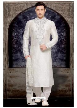 Imperial White Party Wear Kurta Pajamas