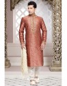 Scintillating Pink Jacquard Kurta Pajama