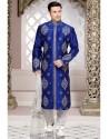 Genius Blue Art Silk Kurta Pajama