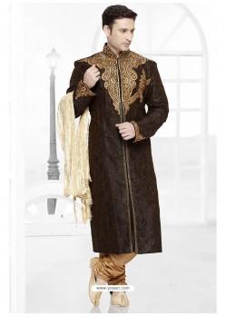 Imperial Black Art Silk Kurta Pajama