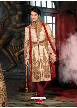 Flattering Gold Wedding Sherwani