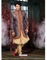 Royal Blue Pure Silk Sherwani