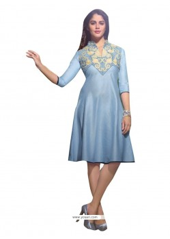 Stupendous Embroidered Work Linen Party Wear Kurti