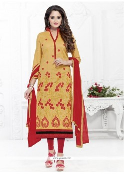 Snazzy Yellow Churidar Suit