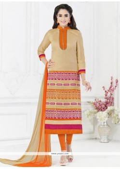 Subtle Embroidered Work Churidar Suit